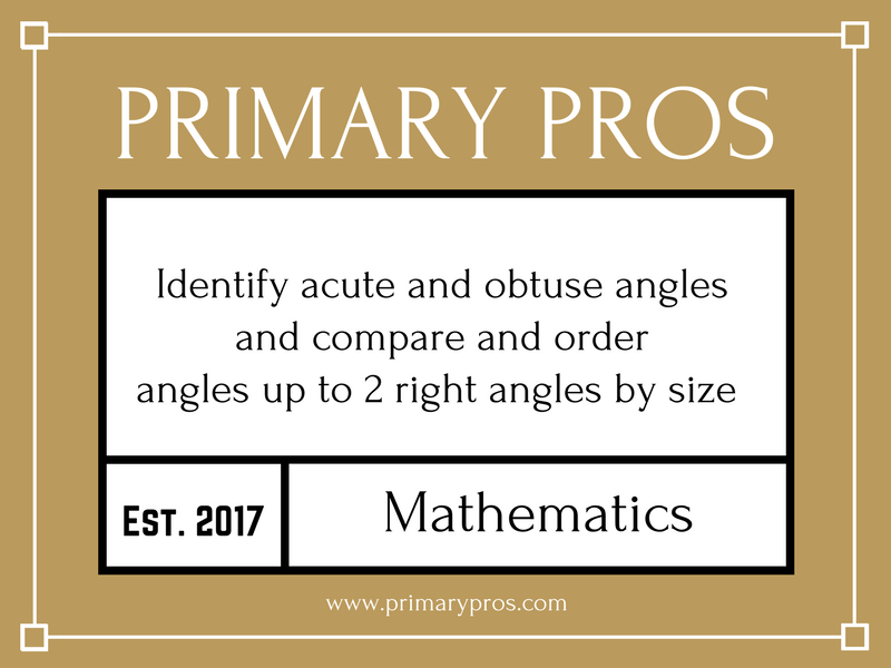 Identify acute and obtuse angles and compare and order angles up to 2 right angles by size