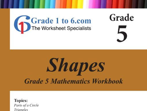 Shapes  Grade 5 Maths Workbook from www.Grade1to6.com Books