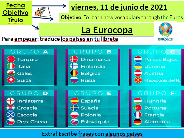 2021 Euros Spanish lessons + activity booklet