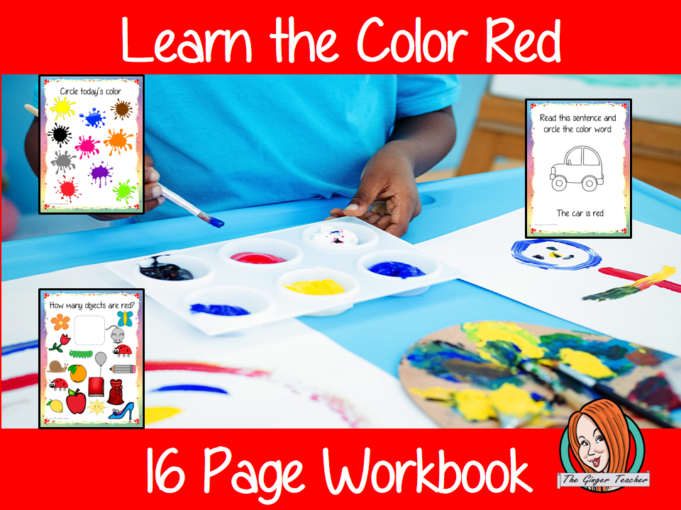 Color 'Red' 16 Page Workbook