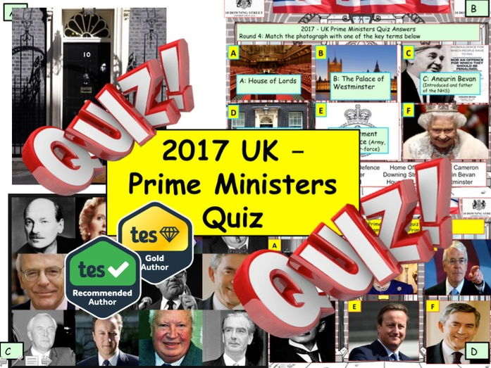 2017 British Prime Ministers PM Quiz - 7 rounds and over 40 Questions. End of Term Quiz.