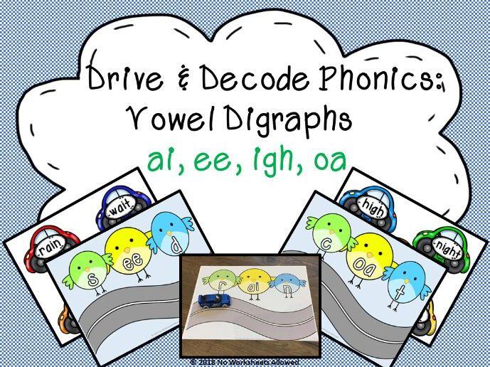Phase 3 Phonics Blending Game - ai, ee, igh, oa