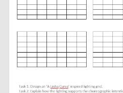 A Linha Curva Lighting Grid Activity Sheet