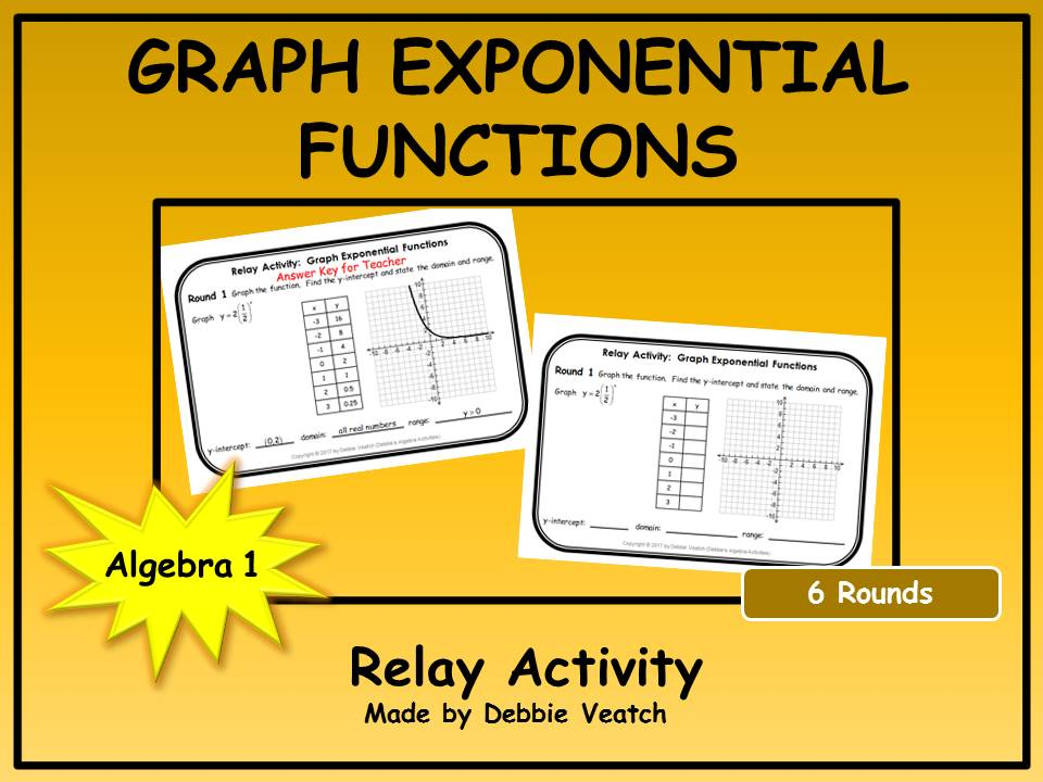 Graph Exponential Functions Relay Activities