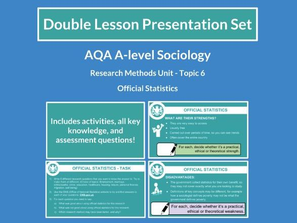 Official Statistics - AQA A-level Sociology - Research Methods - Topic 6