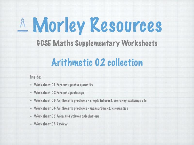 Arithmetic 02 GCSE Maths Collection