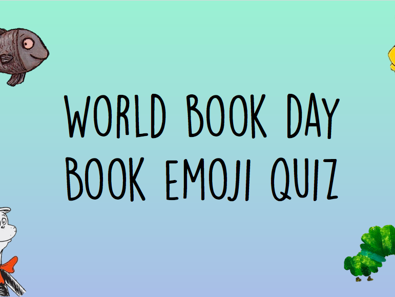 World Book Day Emoji Book Quiz KS1 KS2 Books