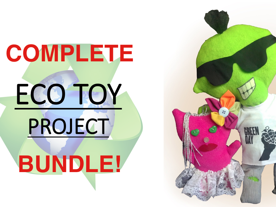 Eco Friendly Stuffed Toy: Complete package for KS3 Design & Make Stuffed Soft Toy Project PowerPoint - KS3 Textiles - Inc' PowerPoint & Video