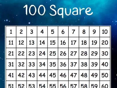 Galaxy Theme 100 Square