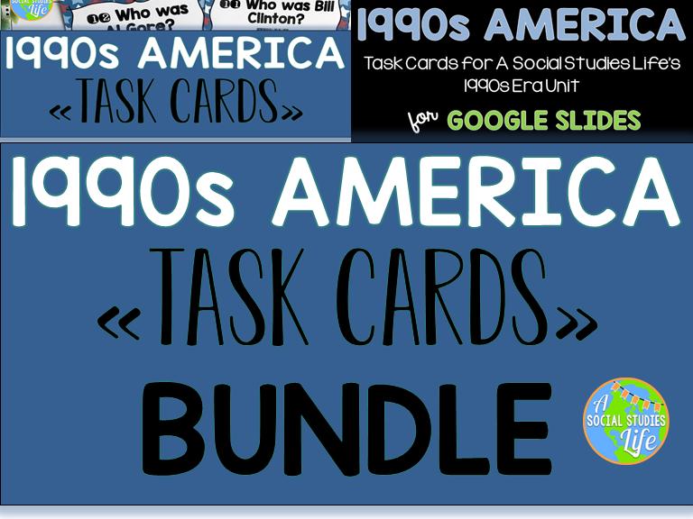 1990s America Task Cards BUNDLE