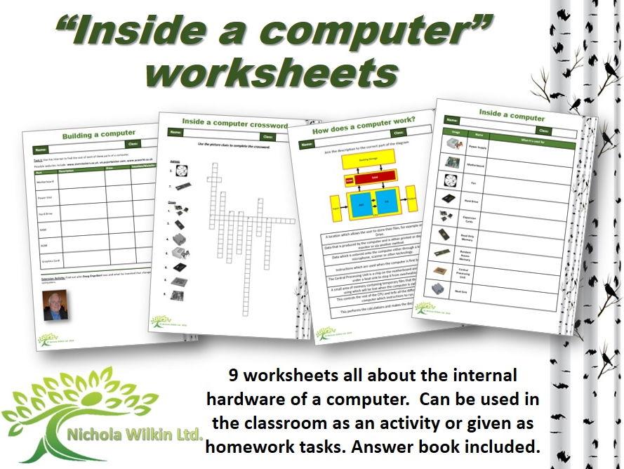 """""""Inside a Computer"""" worksheet pack"""