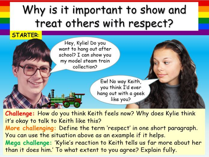Respect , Relationships + Bullying