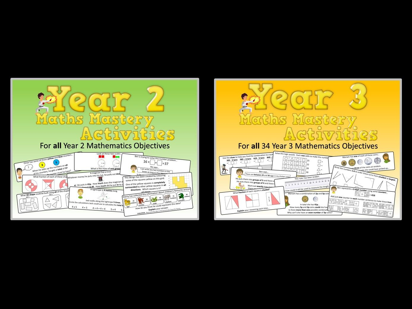 Year 2 AND Year 3 Maths Mastery Pack