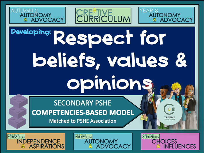PSHE Builder -  Respect for beliefs, values and opinions