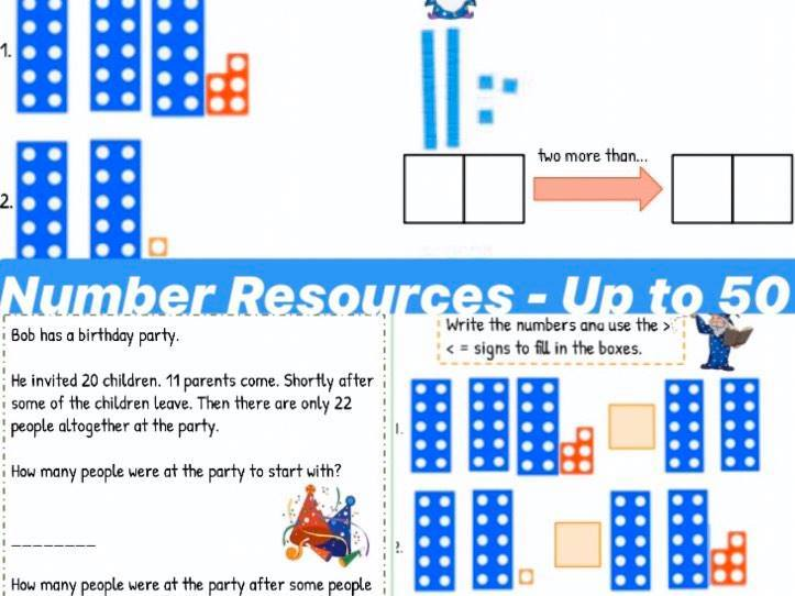 Year 1 Numbers to 50 Resources