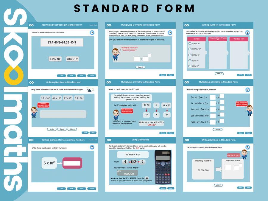 standard form year 9  Standard Form - Year 9, Key stage 9
