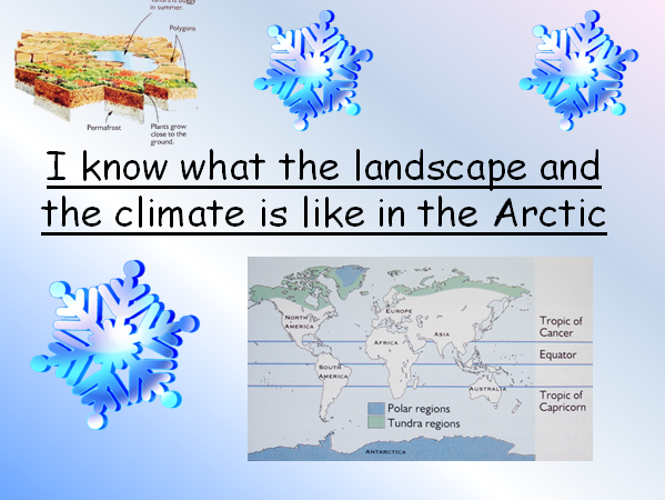 I know what the landscape and the climate is like in the Arctic comprehension