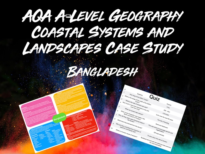 AQA A-Level Geography Coastal Systems Bangladesh Case Study With Quiz
