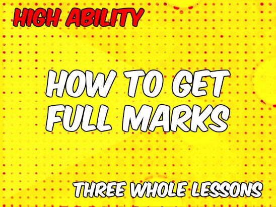 Bundle: How to Get Full Marks (AQA English Language Paper 2)
