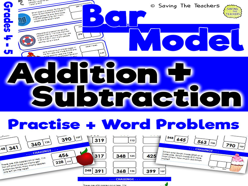 Bar Model Addition and Subtraction: Years 5- 6