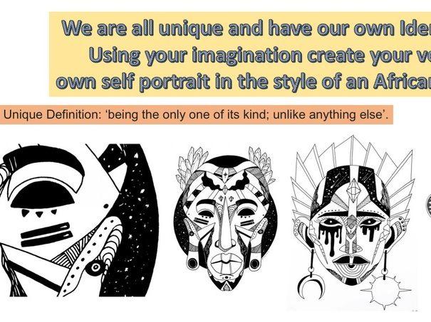 IDENTITY ART LESSON / African tribal masks