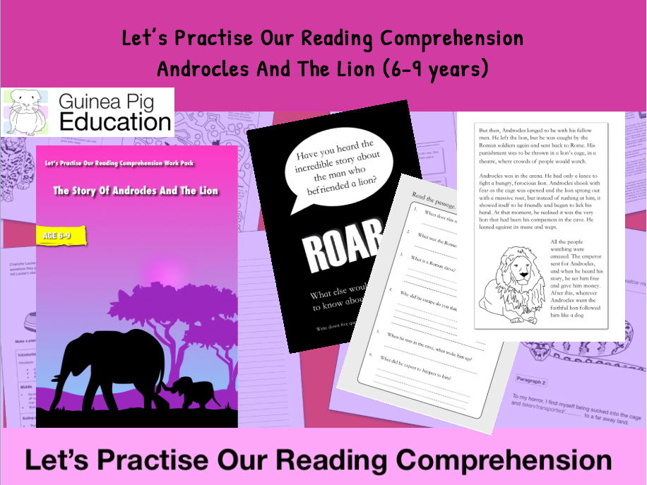 Androcles And The Lion (Let's Practise Our Reading Comprehension) 6-9 years