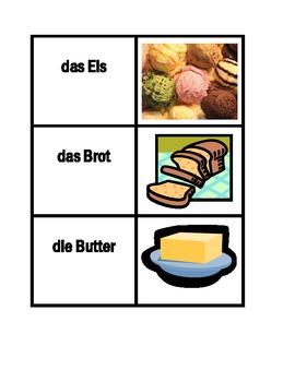 Essen (Food in German) Concentration games