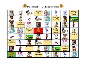Reflexivverben (German Reflexive verbs) Schnecke Snail game