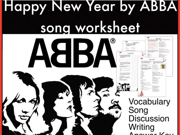 New Year. Happy New Year by ABBA. Song activity. ESL/EFL