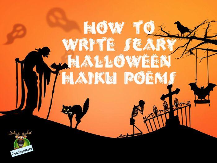 Halloween Lesson Idea - Writing Scary Haiku Poems