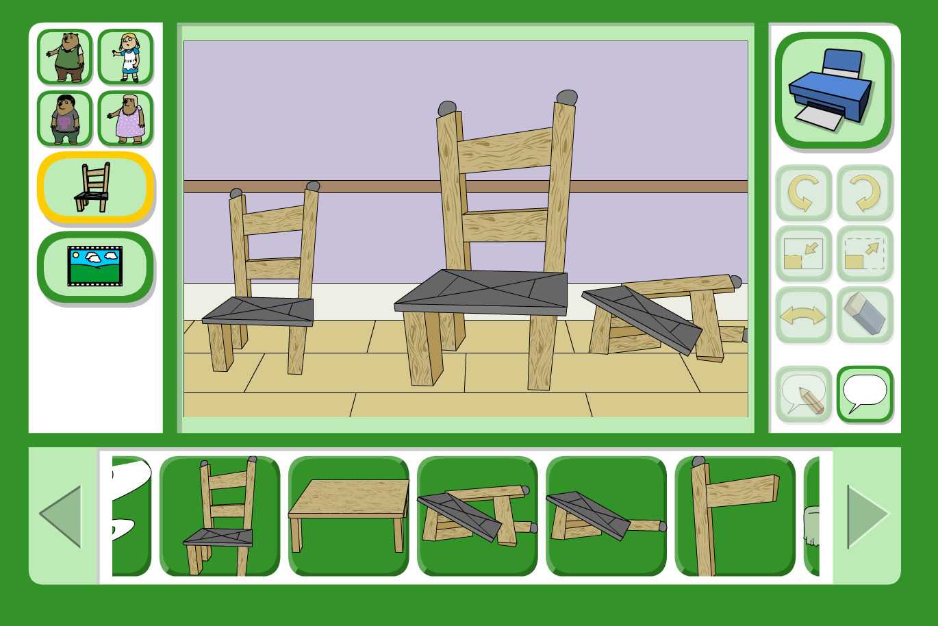 Goldilocks Scene Focus - Interactive Activity - KS1 Literacy