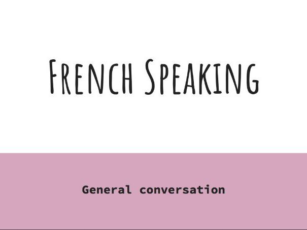 AQA GCSE French speaking practice question and answer