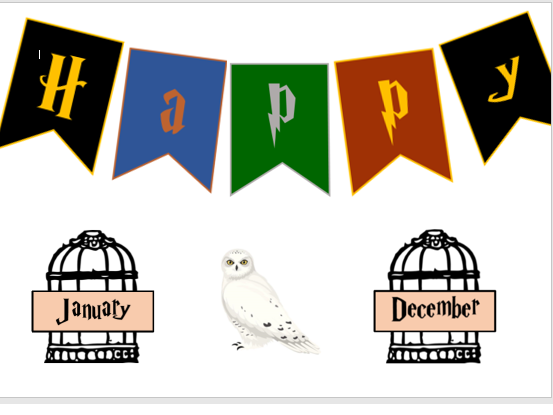 Harry Potter Classroom Signs (Happy Birthday Chart)