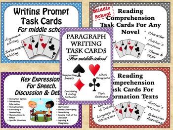 Reading & Writing Task Card Bundle *SPAG*