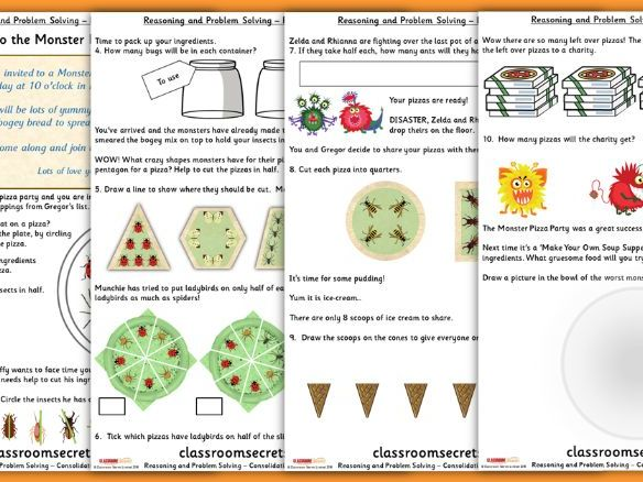 Fractions Consolidation Year 1 Summer Block 2 Reasoning and Problem Solving