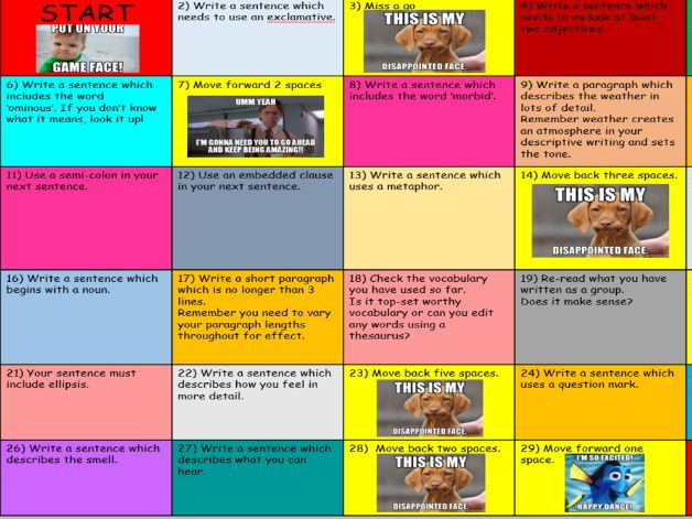 Varying Your Writing - Board Game