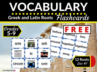 FREE Greek and Latin Roots Flashcards