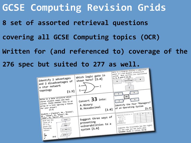GCSE Computing Revision Grids