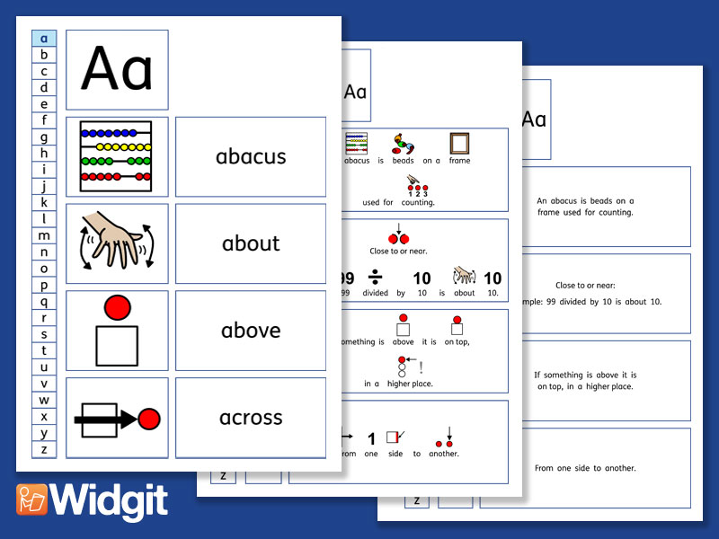 My First Maths Dictionary with Widgit Symbols