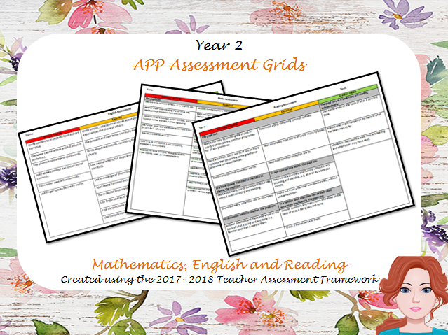 Year 2: Teacher Assessment Framework -  APP Grids