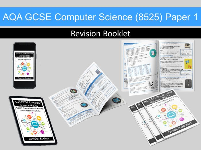 AQA GCSE Computer Science (8525) Paper 1 Revision Guide / Booklet