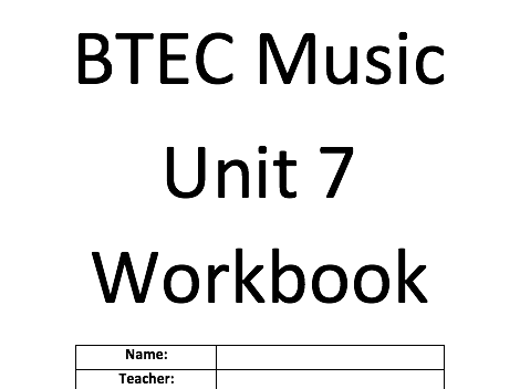 Unit 7- Introducing music sequencing BTEC Music