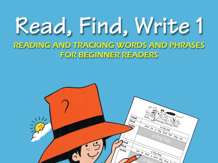READ, FIND, WRITE BOOK 1
