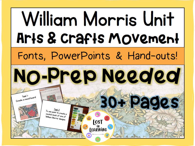 William Morris Art Topic (8 weeks of lessons)