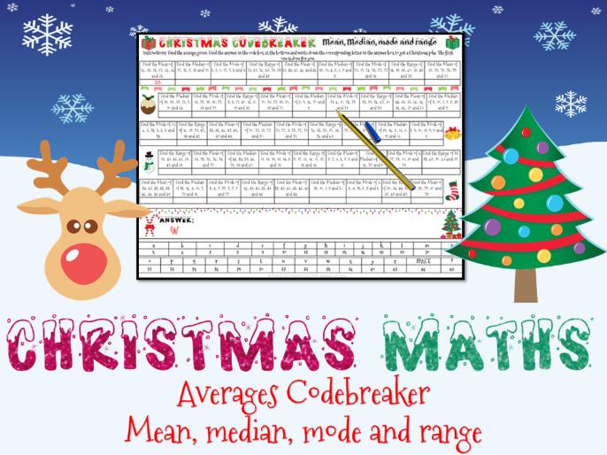 Christmas maths - Averages codebreaker