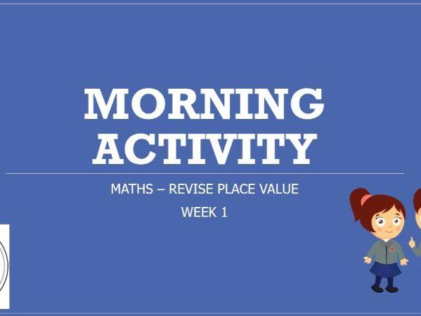 KS2 Maths Morning Task or Starter Revision Aut 1