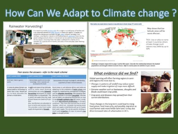 Geography. Adapting to Climate Change