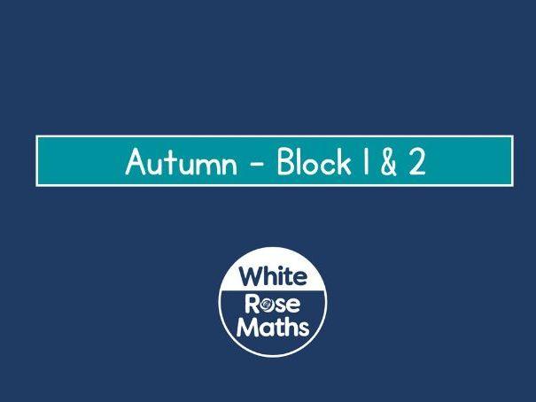 White Rose Maths Year 3 - Autumn Block 1 & 2