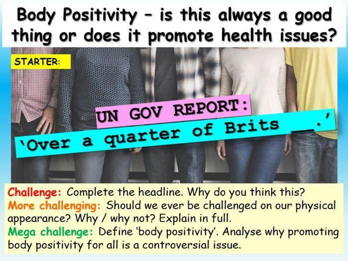Obesity + Body image PSHE