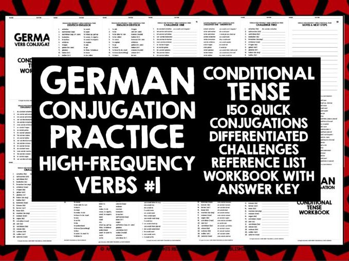 GERMAN CONJUGATION PRACTICE CONDITIONAL TENSE #1